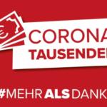 Corona-Tausender für alle, diedasLandam Laufen halten